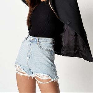 Misguided high waisted denim shorts size 10